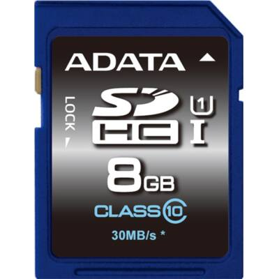ADATA Memóriakártya SDHC 8GB UHS-I CLASS 10