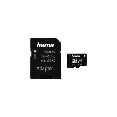 HAMA MICROSD KÁRTYA, 16GB, 80MB/S, CL10