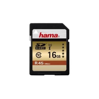 HAMA Memóriakártya SDHC 16GB, 45MB/s,CL10, UHS-I