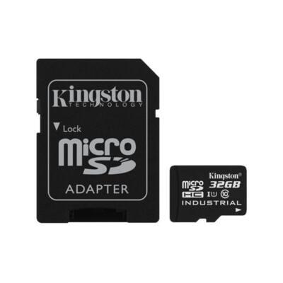 KINGSTON Memóriakártya MicroSDHC 32GB CLASS 10 UHS-I Industrial Temp + Adapter