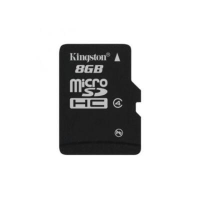KINGSTON Memóriakártya MicroSDHC 8GB CLASS 4 Adapter nélkül