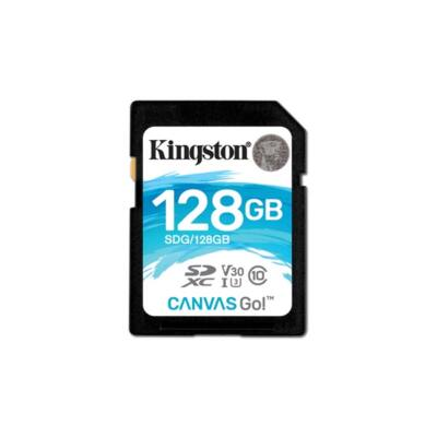 KINGSTON Memóriakártya SDXC 128GB CL10 U3 V30 Canvas Go (90/45)