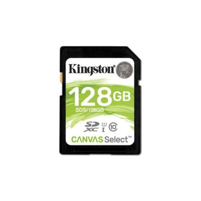 KINGSTON Memóriakártya SDXC 128GB CL10 UHS-I Canvas Select (80/10)