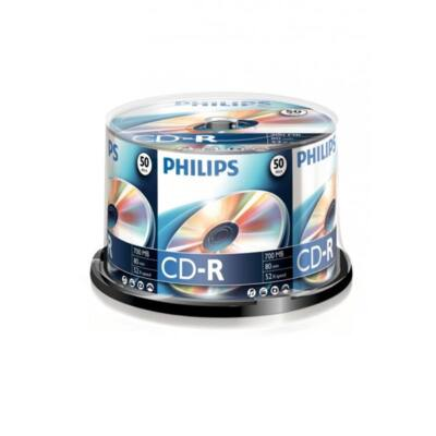 PHILIPS CD Lemez CD-R80 50db/Henger 52x