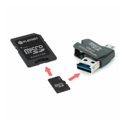 PLATINET 4in1 microSD 8Gb + kártyaolvasó + OTG + adapter
