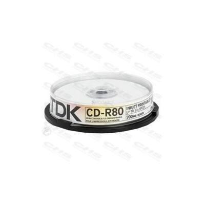 TDK CD lemez CD-R80 52x 10db/Henger
