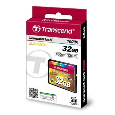 Transcend Memóriakártya CF 32GB 1000X