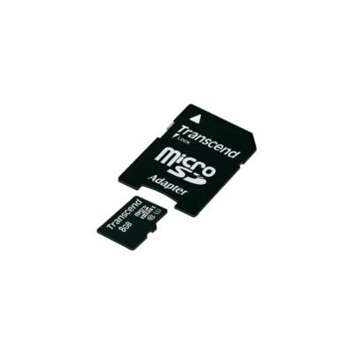 Transcend Memóriakártya MicroSDHC 8GB Class 10 UHS-I U1 + adapter