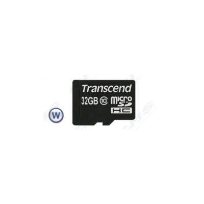 Transcend Memóriakártya Micro SDHC 32GB Class 10 + adapter