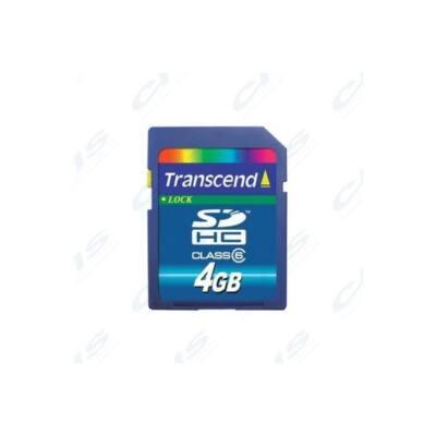 Transcend Memóriakártya SDHC 4GB CLASS 4
