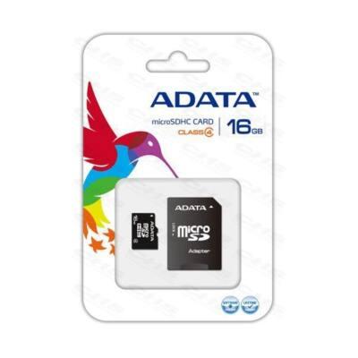 ADATA Memóriakártya MicroSDHC 16GB + Adapter CLASS 4