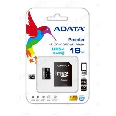 ADATA Memóriakártya MicroSDHC 16GB + Adapter UHS-I CLASS 10