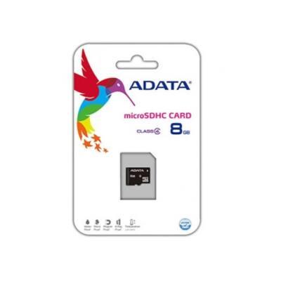 ADATA Memóriakártya MicroSDHC 8GB CLASS 4