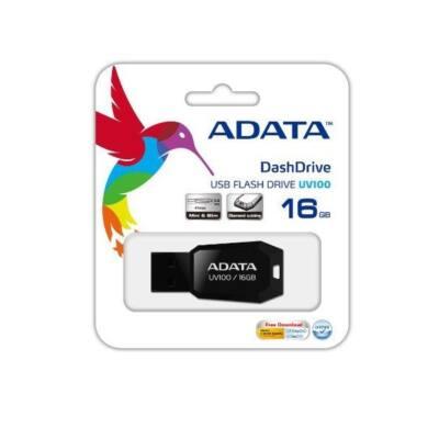 ADATA Pendrive 16GB, UV100, Fekete