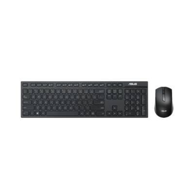ASUS Vezeték Nélküli Billentyűzet + Optikai egér W2500 USB, Slim Fekete