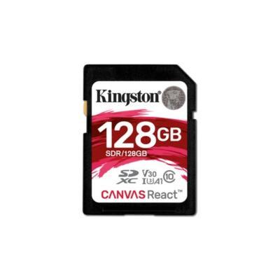 KINGSTON Memóriakártya SDXC 128GB CL10 UHS-I U3 V30 A1 Canvas React (100/80)