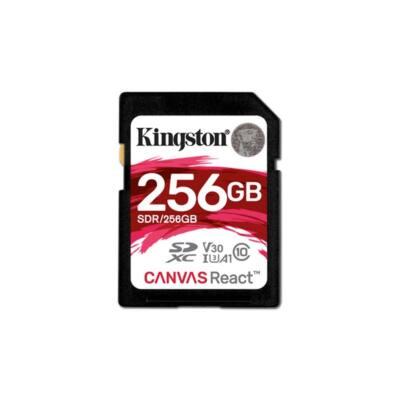 KINGSTON Memóriakártya SDXC 256GB CL10 UHS-I U3 V30 A1 Canvas React (100/80)