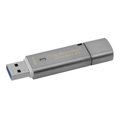 KINGSTON Pendrive 16GB, DT Locker+ G3 USB 3.0, fém, Titkosított (135/20)