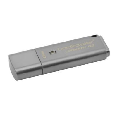 KINGSTON Pendrive 8GB, DT Locker+ G3 USB 3.0, fém, Titkosított (80/10)