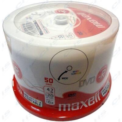 MAXELL DVD lemez -R 4.7GB 50db/Henger 16x Nyomtatható