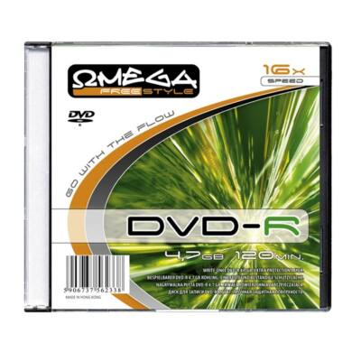 OMEGA-FREESTYLE DVD lemez -R 4.7GB 16x Slim tok