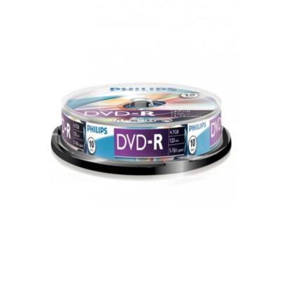 PHILIPS DVD Lemez -R 4.7GB 10db/Henger