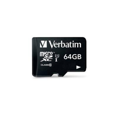 "VERBATIM Memóriakártya, microSDXC, 64GB, Class 10 UHS-I, 70/10MB/sec, ""Tablet"""
